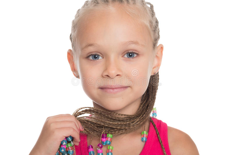 Cute little girl with dreadlocks royalty free stock image