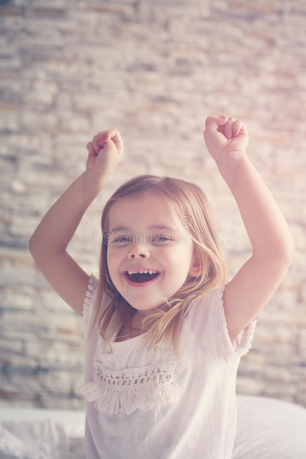 Cute little girl. Happy little girl. royalty free stock photos