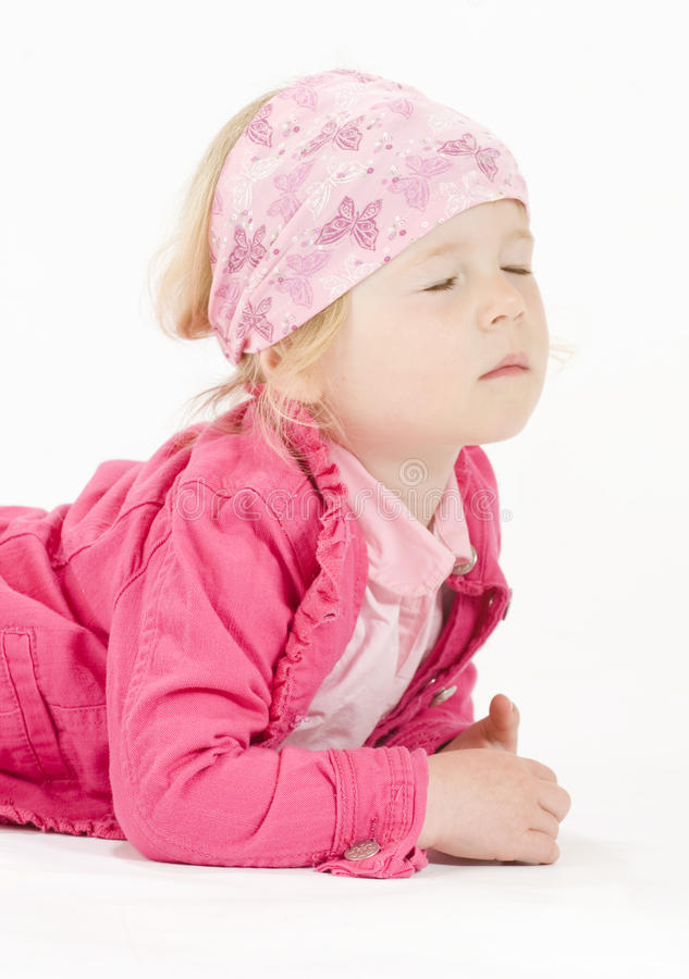 Cute little girl having a wish