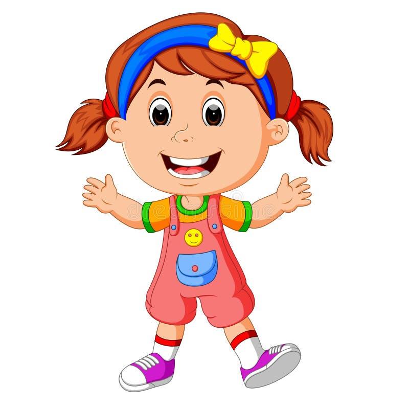 Cute little girl stock illustration