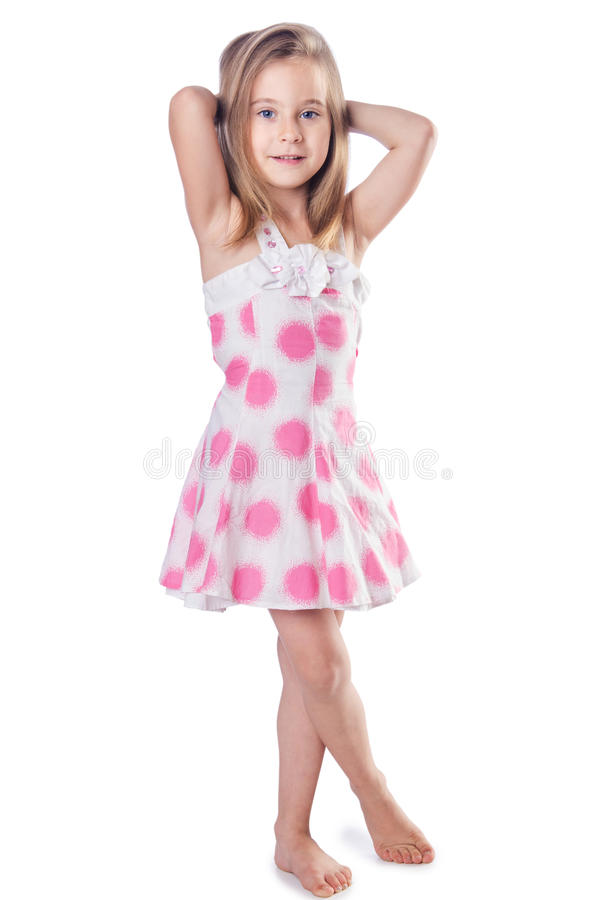 Download Cute little girl isolated stock photo. Image of life - 28418404