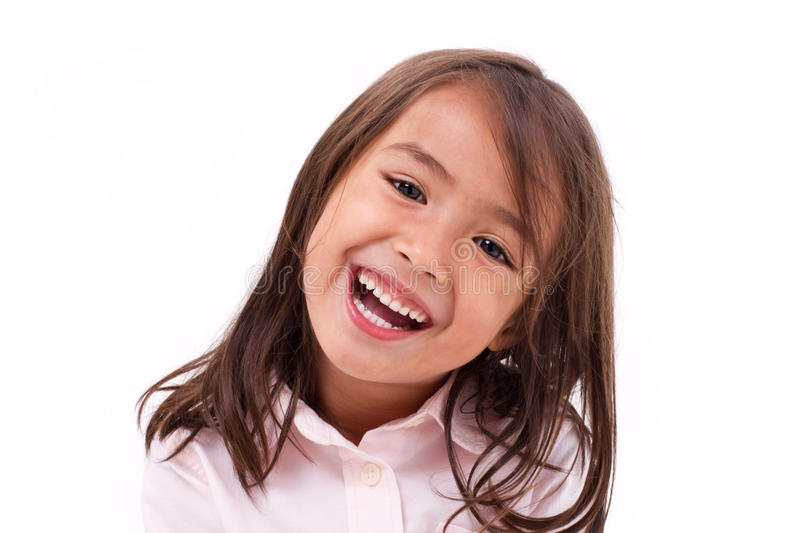 Cute little girl laughing royalty free stock photography