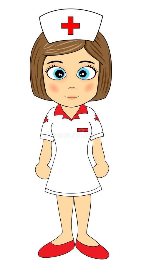 cute little girl nurse stock vector illustration of