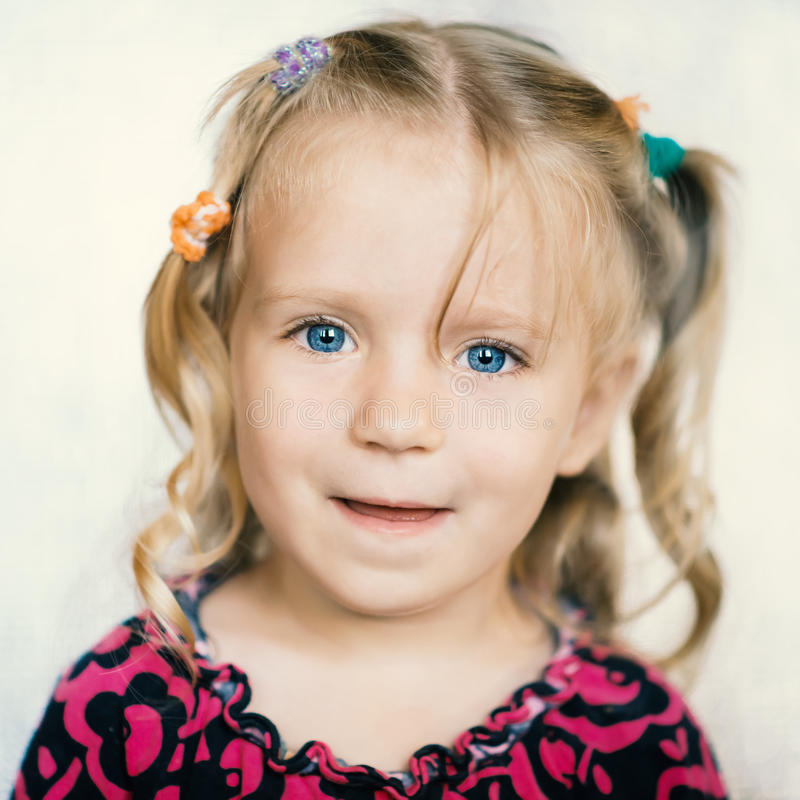 Cute little girl. royalty free stock images