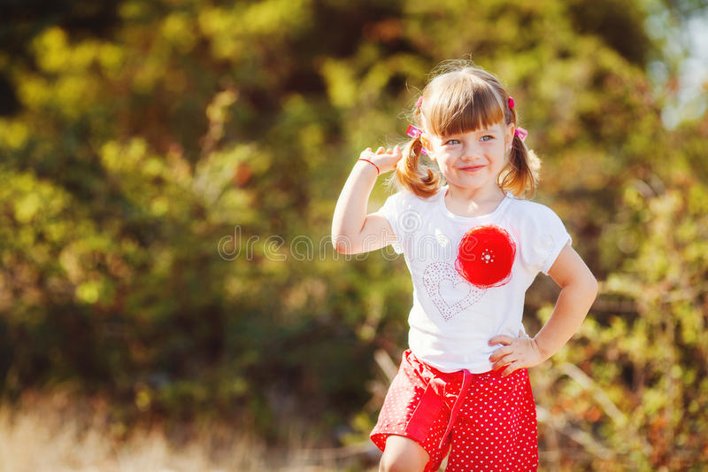 Download Cute Little Girl Playing In Summer Park. Outdoor Stock Photo - Image of outside, happiness: 36269602