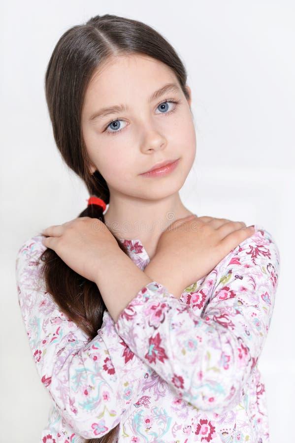 Cute little girl posing stock photos