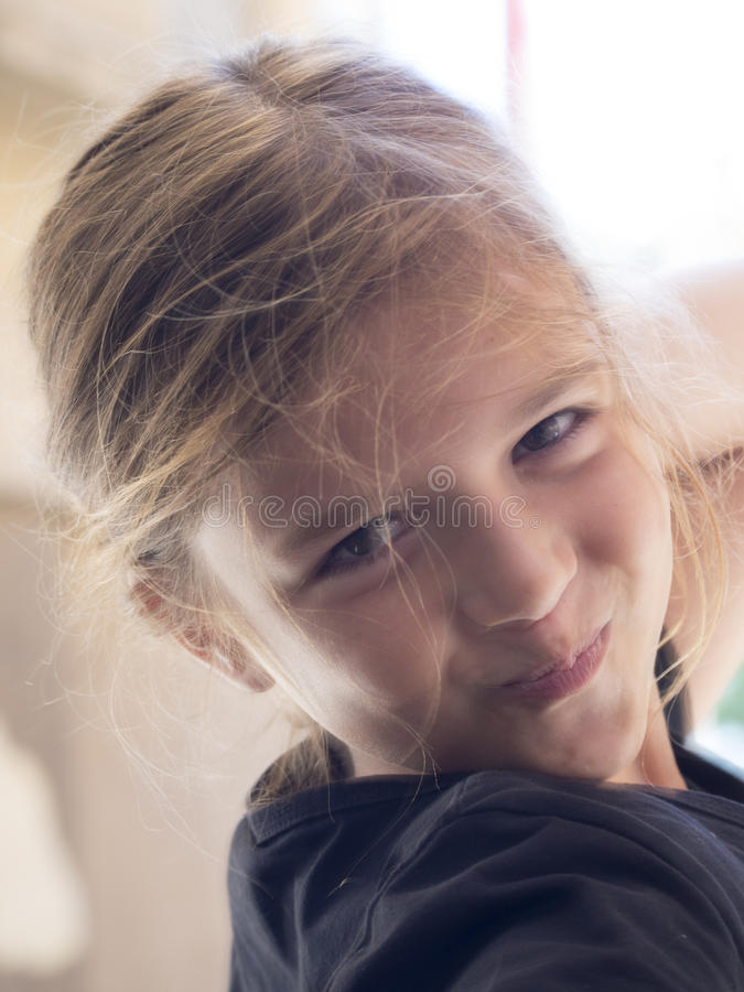 Cute little girl smiling royalty free stock photos