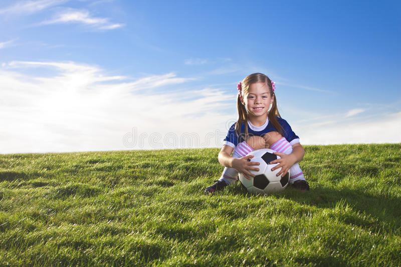Download Cute Little Girl Soccer Player Stock Photo - Image: 21815940