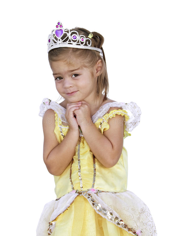 Cute little Girl wishing royalty free stock photo