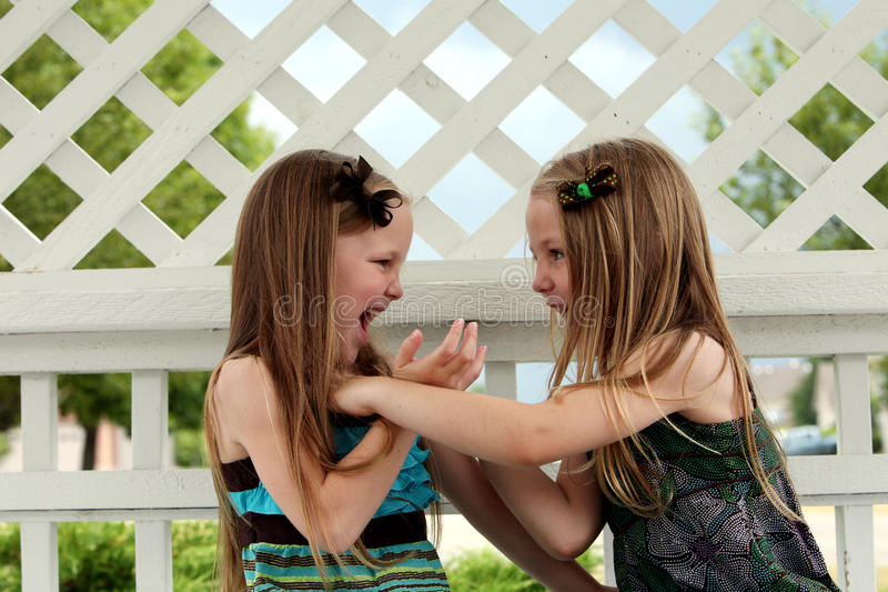 Download Cute little girls playing stock photo. Image of kids - 26275568