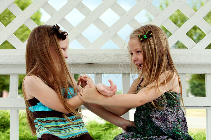 Download Cute Little Girls Playing Stock Image - Image: 26275571