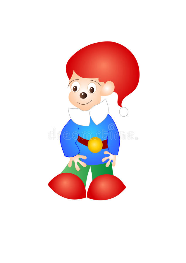 Download Cute  little gnome stock vector. Image of drawing, children - 11195779