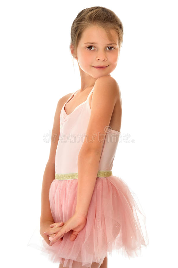 Cute little gymnast royalty free stock photos