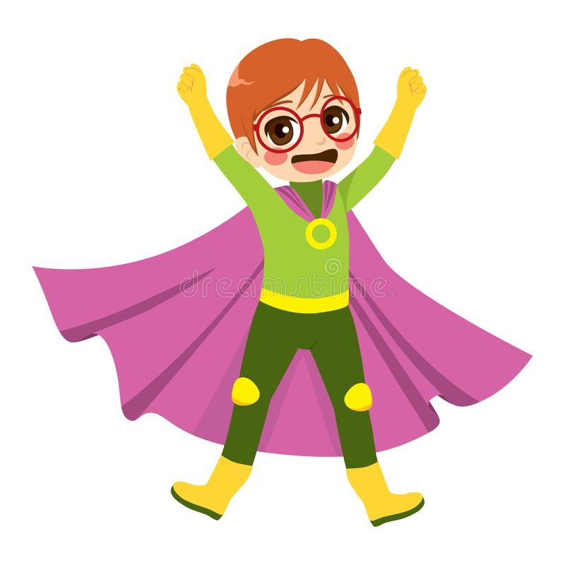 Super Hero Nerd stock illustration