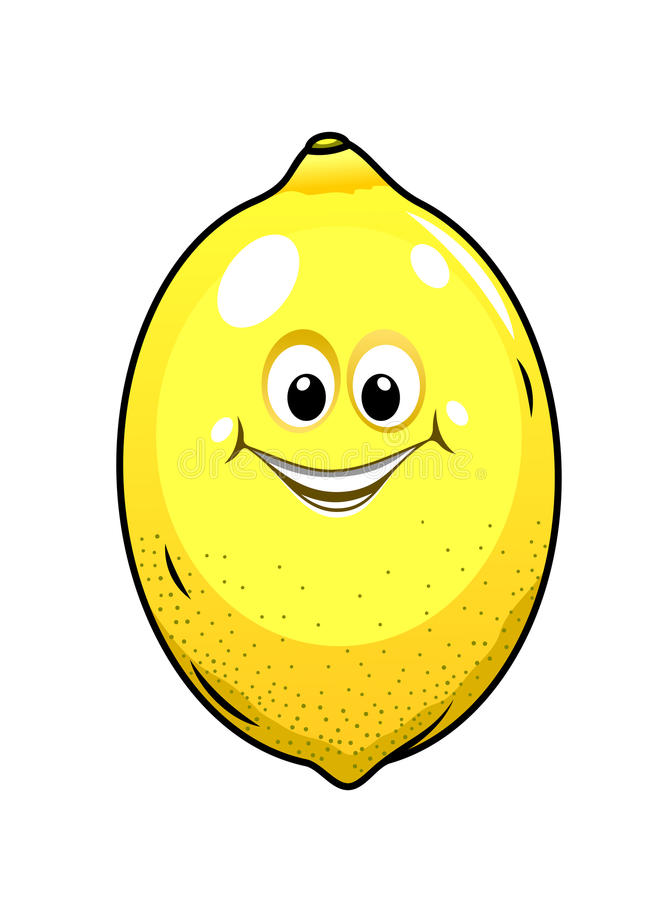Download Cute Little Lemon With A Happy Grin Stock Vector - Image: 37964526