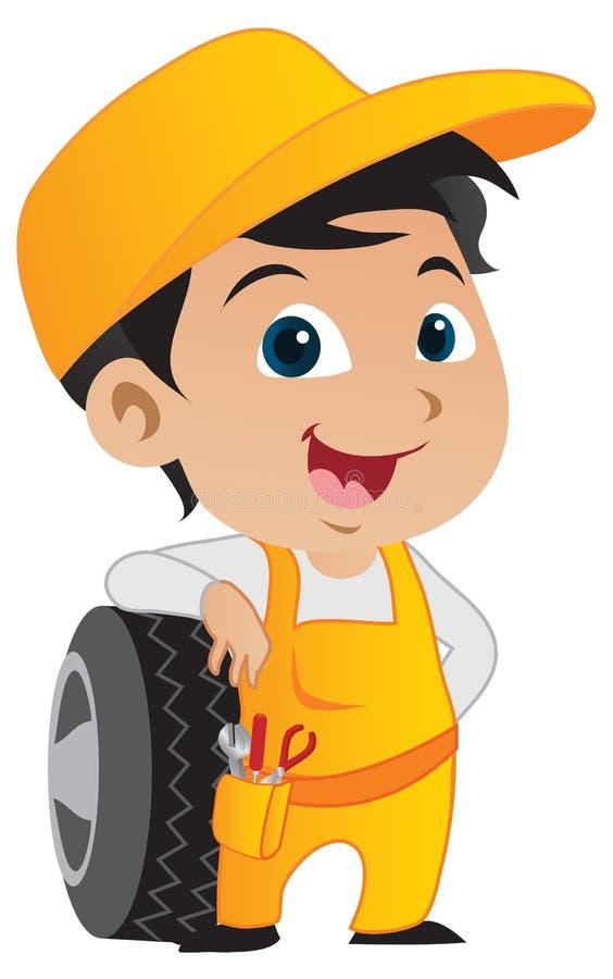Free Cute Little Mechanic Boy Stock Photos - 17678993