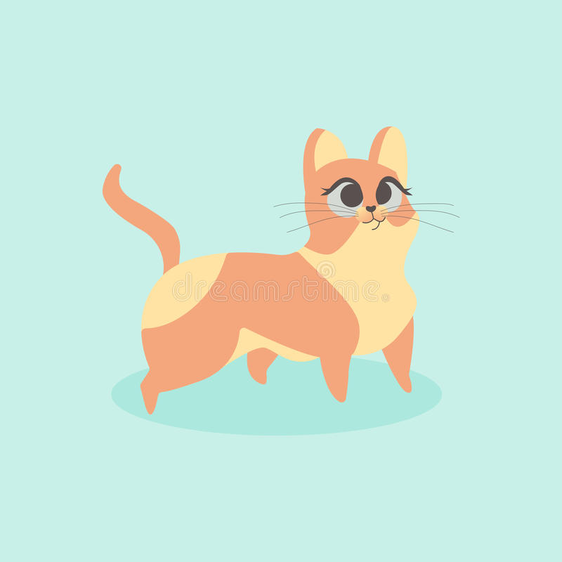Free Cute Little Orange Cat Vector Illustration. Curious Kitten. Royalty Free Stock Photography - 98535137