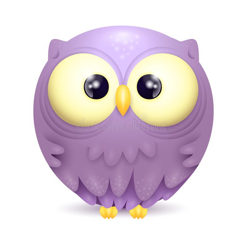 Cute little owl character vector illustration vector illustration