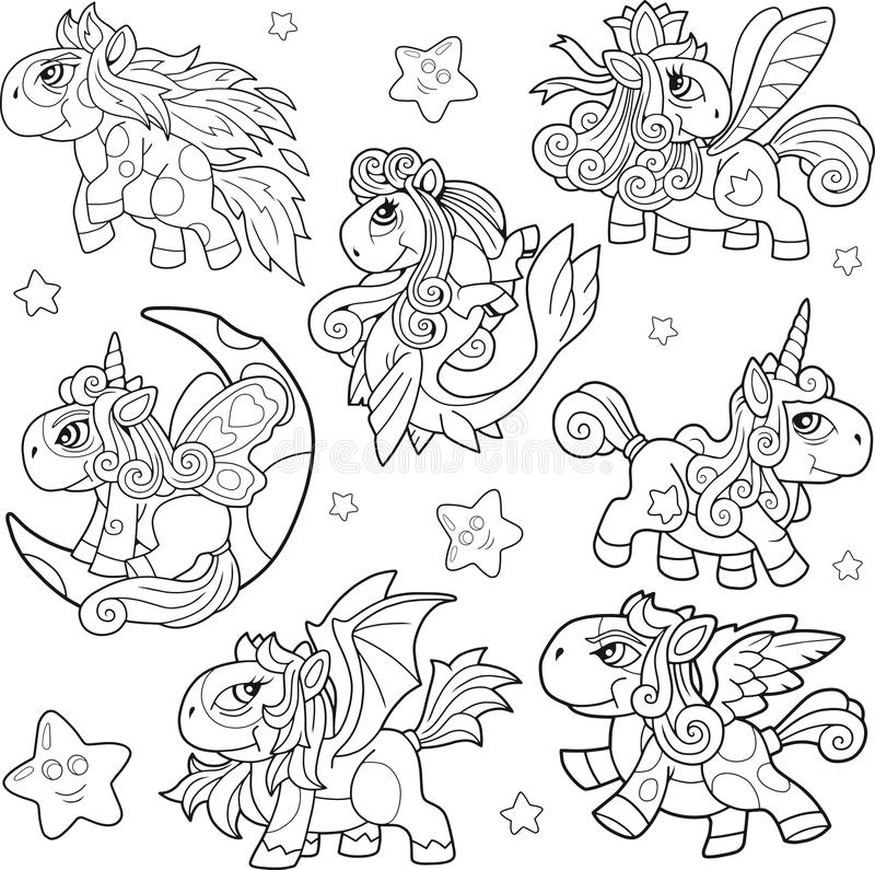 Pony Coloring Stock Illustrations – 2,055 Pony Coloring Stock  Illustrations, Vectors & Clipart - Dreamstime
