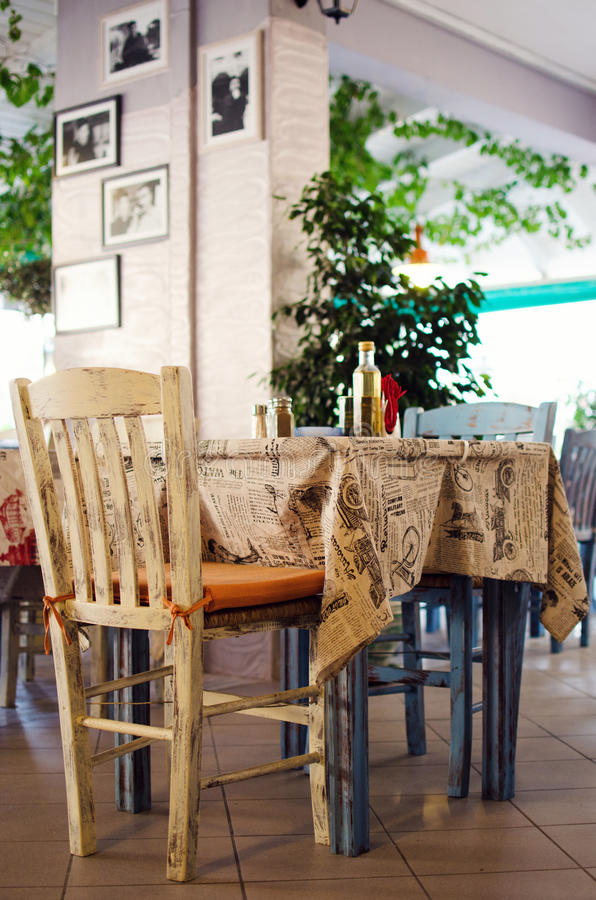 Cute little restaurant in Greece royalty free stock photography