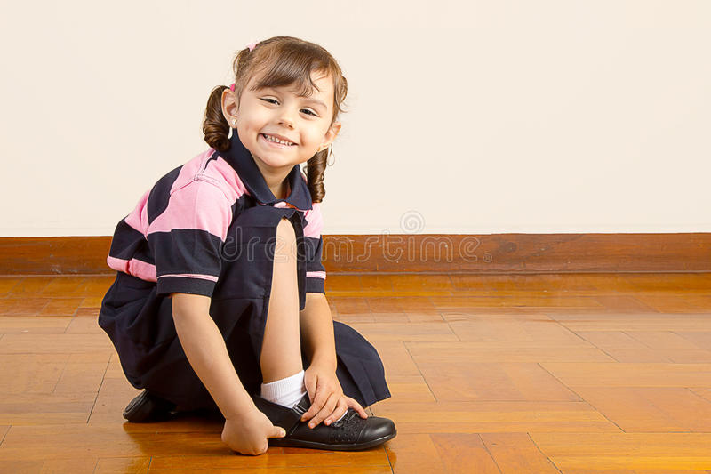 Cute Little School Girl royalty free stock photos