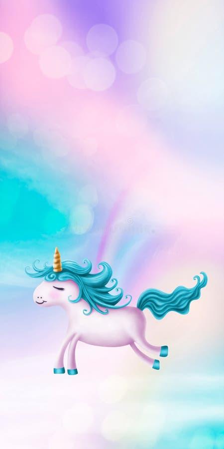 Cute little unicorn stock illustration