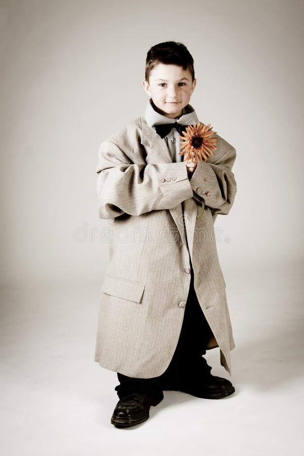 Download Cute little vintage boy stock image. Image of historic - 19074921