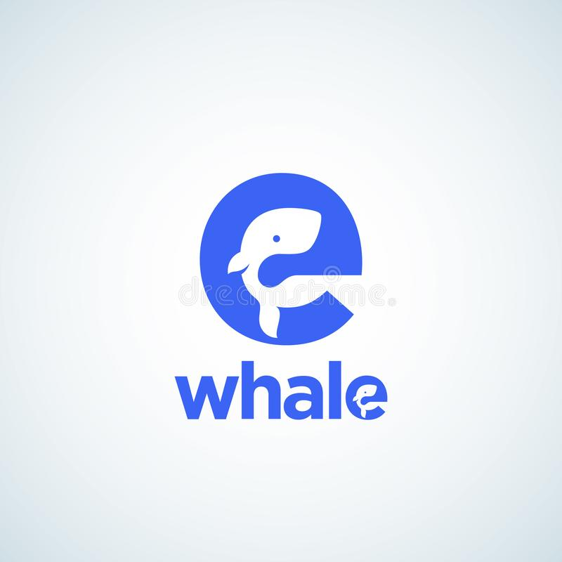 Detailed Cute Baby Logo Template: Whale Silhouette Stock Illustrations 4,757 Whale
