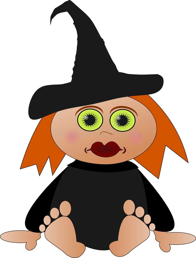 Cute little witch royalty free stock photo