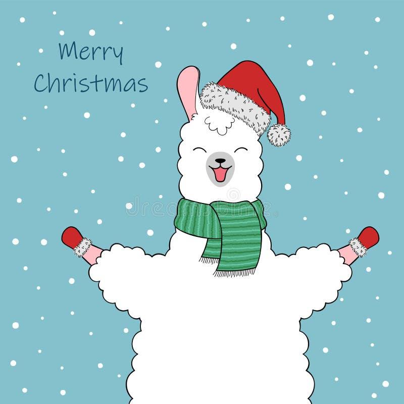 Cute llama character stock illustration