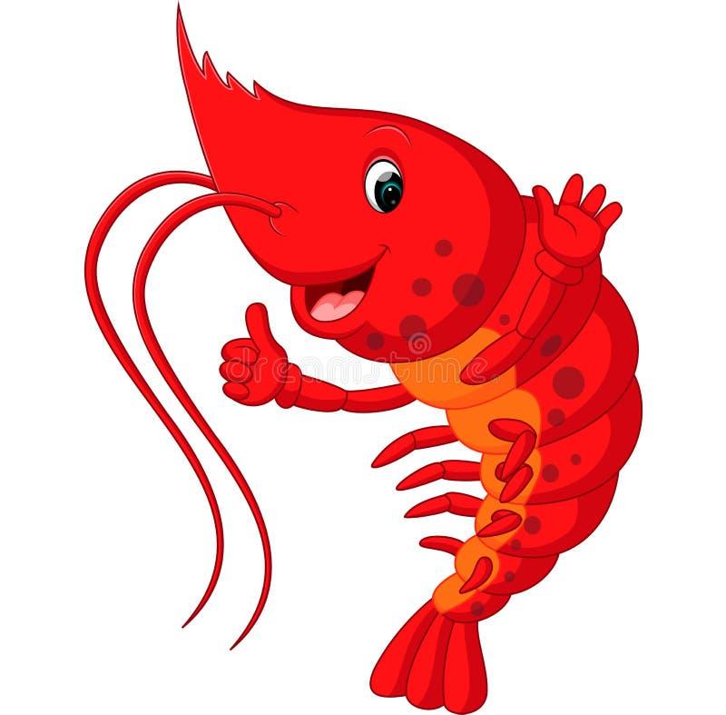 Cute lobster cartoon stock illustration