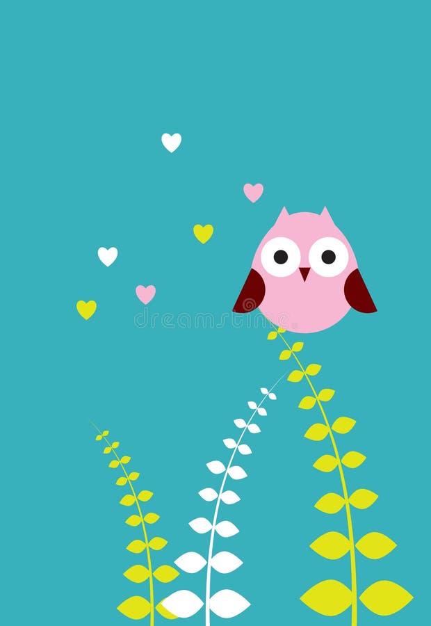 Cute love owl vector illustration