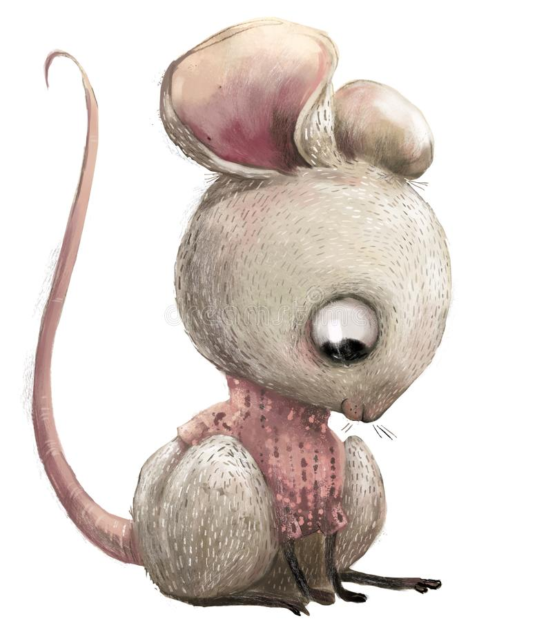 Free Cute Lovely Cartoon Mouse Stock Image - 137384741