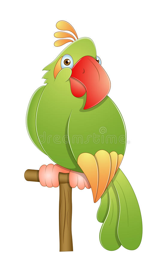Download Cute Macaw stock vector. Image of clipart, eclectus, innocent - 24559929