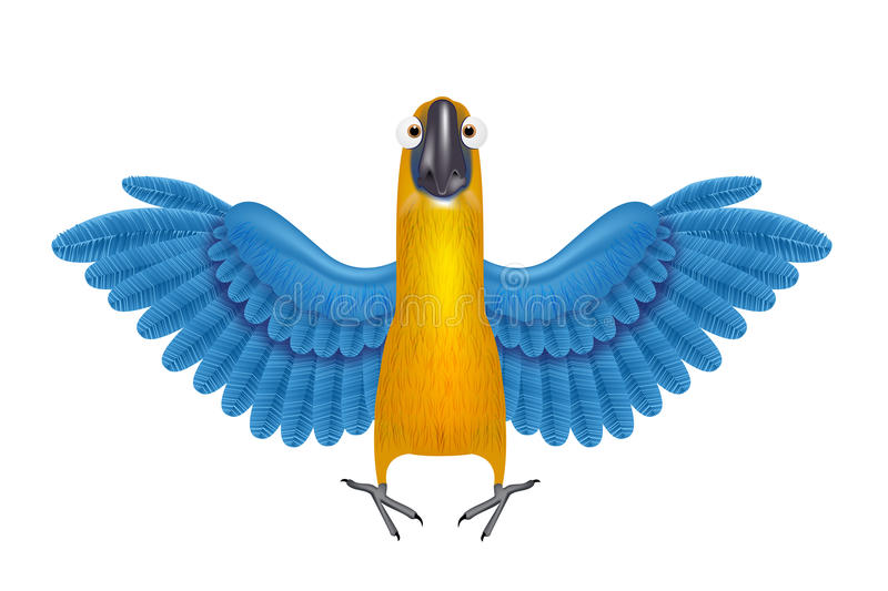 Download Cute Macaw Or Parrot Cartoon Stock Vector - Image: 19418464