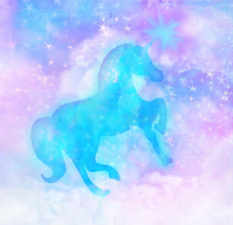Cute magic unicorn vector illustration