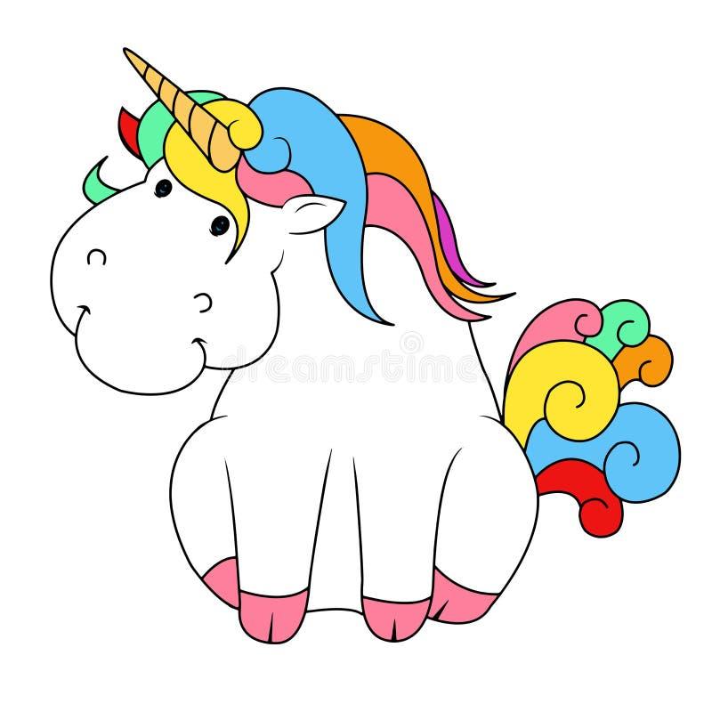Unicorn sitting vector illustration