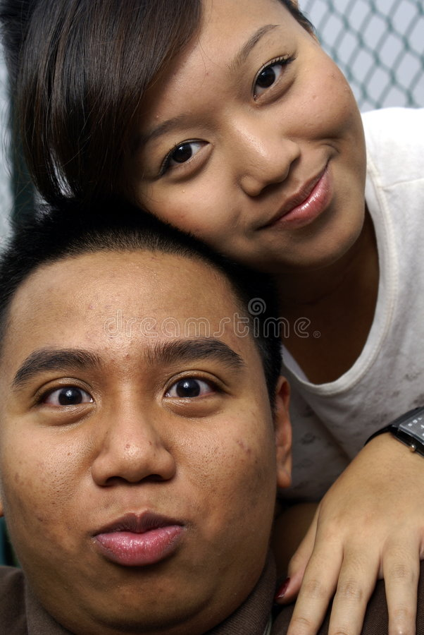 Cute Malay Couple stock image