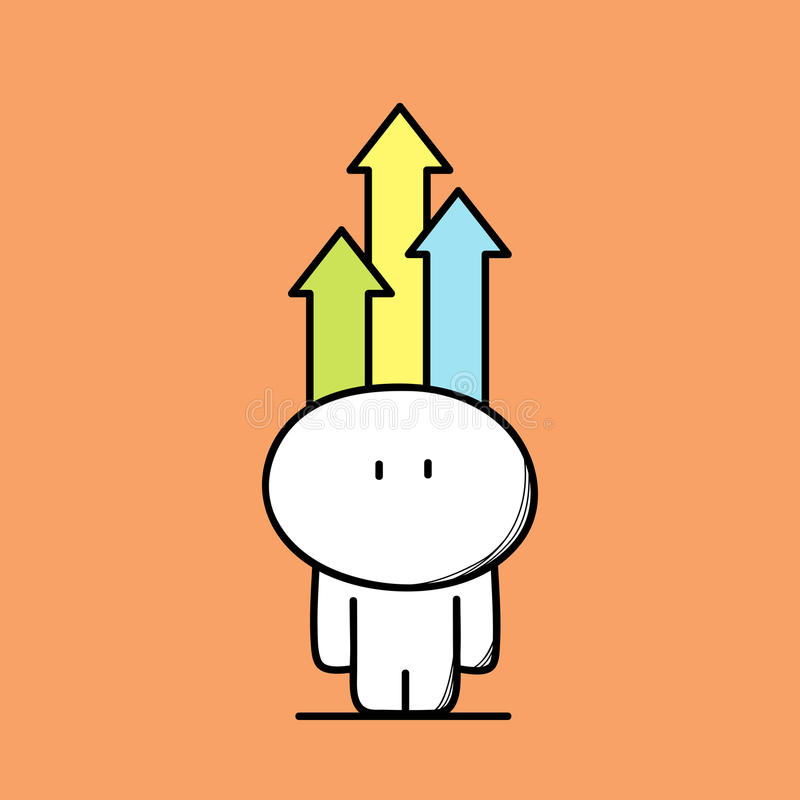 Cute man with arrows royalty free illustration