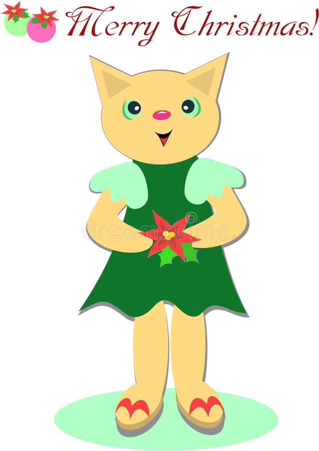 Cute Merry Christmas Cat Royalty Free Stock Photo