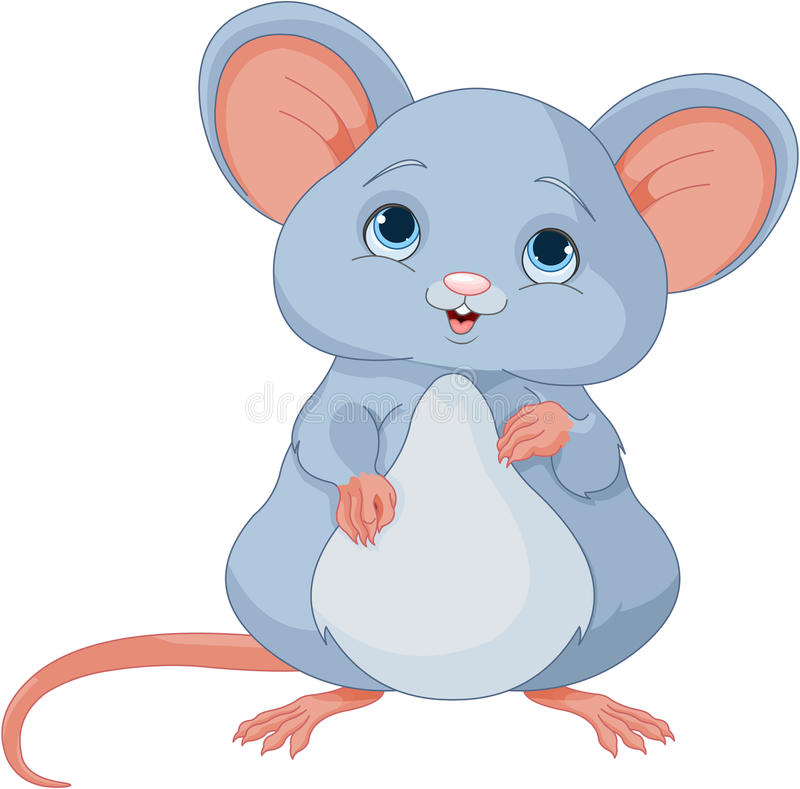 Cute Mice. Illustration of a cute mice royalty free illustration