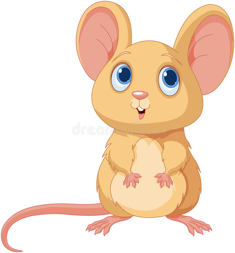 Cute Mice. Illustration of an adorable mice royalty free illustration
