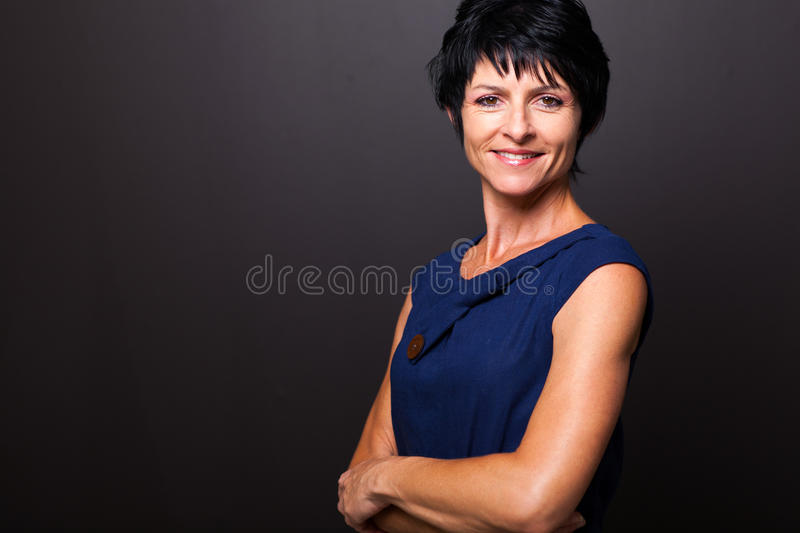 Cute middle aged woman stock photos