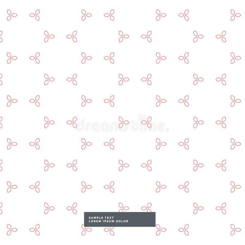 Cute minimal flower pattern background stock illustration