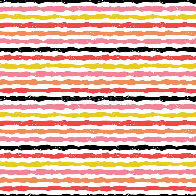 Free Cute Modern Hand Drawn Stripes In Red Blush Pink On White Royalty Free Stock Image - 149961036
