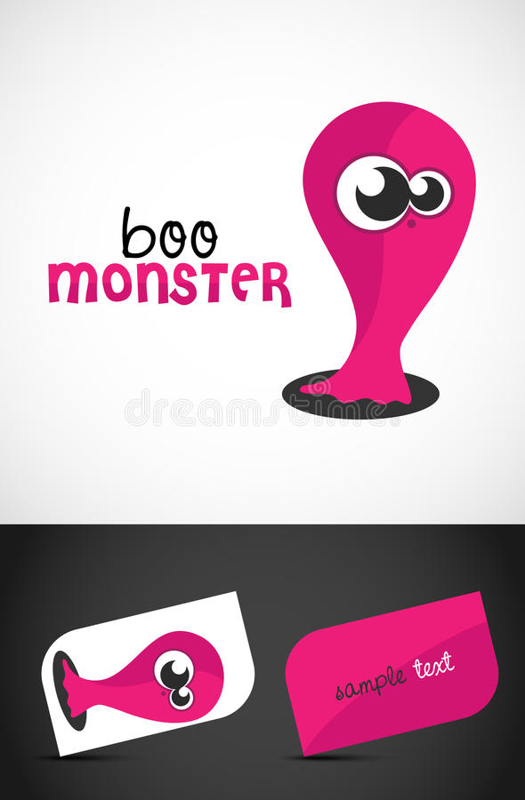 Download Cute Monster stock vector. Image of fear, card, alien - 20445945