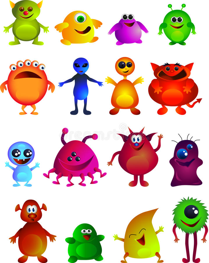 Download Cute monster stock vector. Image of cute, laugh, cheer - 9897739