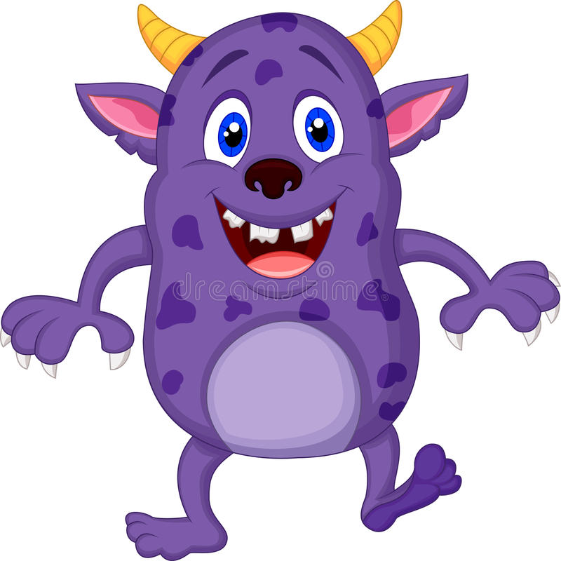 Cute monster cartoon vector illustration