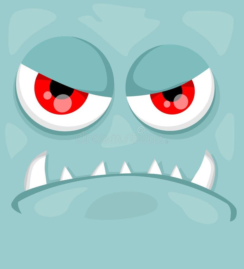 Cute Monster Face Stock Illustration. Illustration Of
