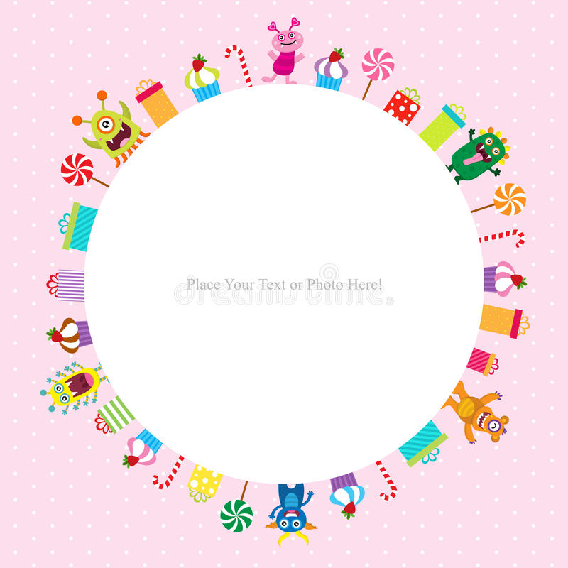 Download Cute Monster Template Stock Vector. Illustration Of Icon   73077756
